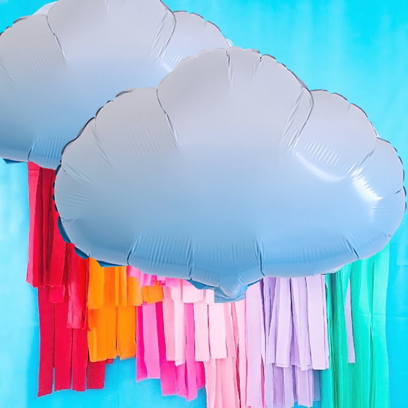 3PCS Blue Gradient Cloud Aluminum Foil Balloon for wedding birthday party room DIY decoration accessiories supplyies 53x51cm in Ballons Accessories from Home Garden