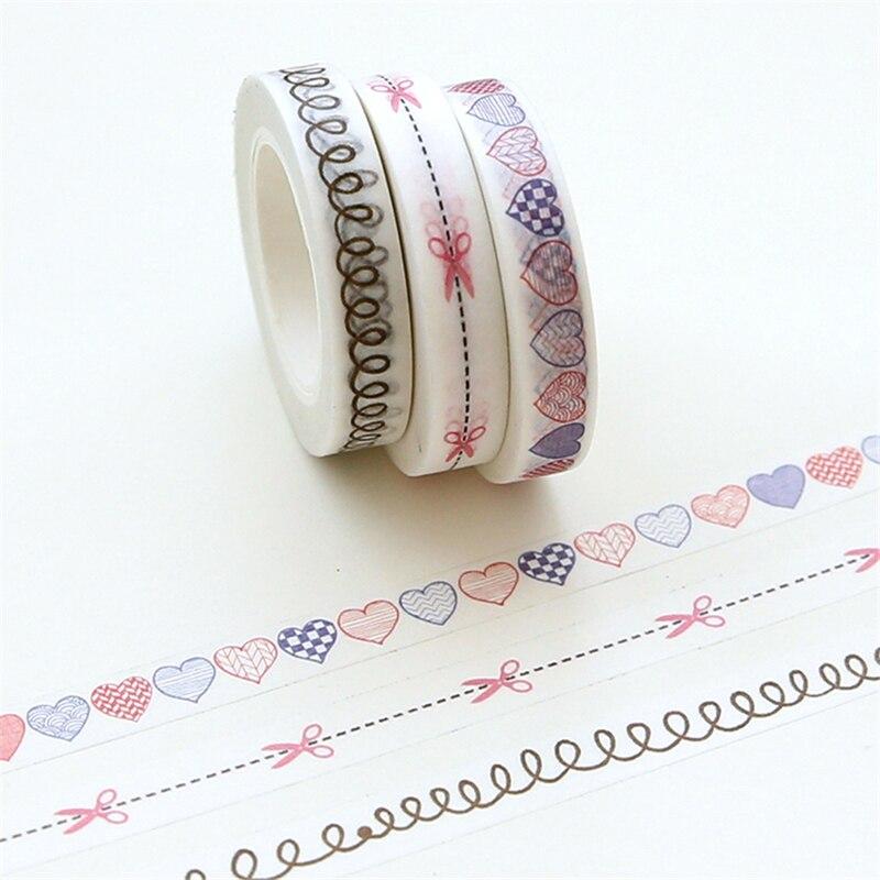 0.8cm*10m Split Line Washi Tape Diy Decoration Scrapbooking Planner Masking Tape Adhesive Tape Kawaii Stationery