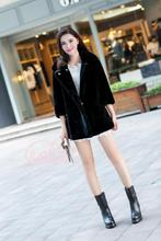 Actual sheep fur coat lamb fur girls winter coat outerwear feminine pure sheep fur overcoat 2017 autumn free transport