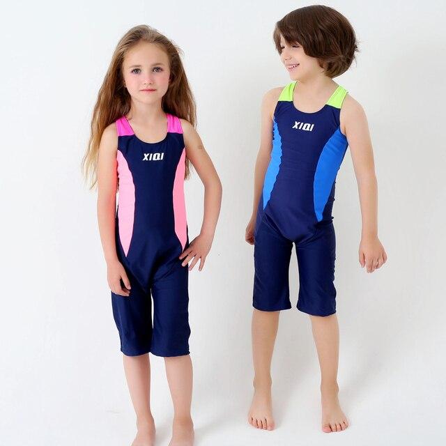 1167ef63324 UTTU New Patchwork One Piece Swimsuit Boys girls High Quality surfing  Swimwear Boxers Bathing Suit Kids Beach Swim Wear Child