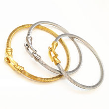 Looker Classical Brand High Quality Stainless Steel Gold Color Buckle Bangle Bracelet Jewelry Brazalete Pulseras Joyeria Mujer