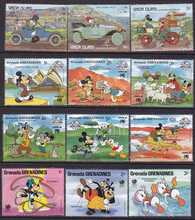50 PCS/Lot  , All New Cartoon Postage Stamps From Many Country In Good Condition For  Collection, All Big .