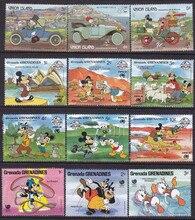 Lot de 50 timbres poste à dessin animé