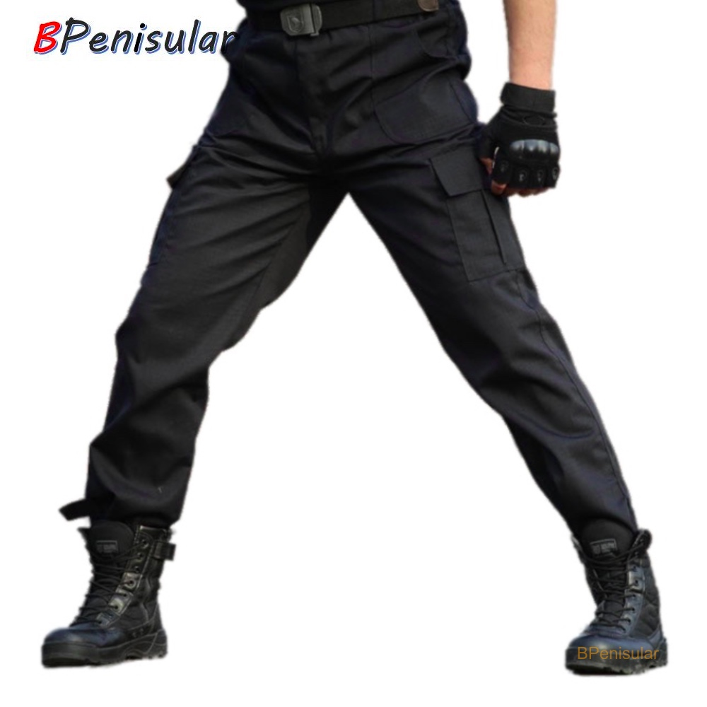 Mens Pants Black Military Tactical Cargo Pants Men Army Black Working Clothing Trousers Men Pant Pantalon Homme CS Paintball