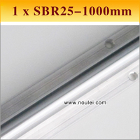 1pcs SBR25 1000mm Linear Motion guide supported rail SBR linear shaft 25mm for CNC can be cut any length