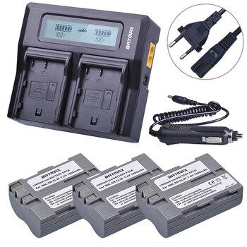 Batmax EN-EL3E EN EL3e 3PCS battery+LCD Rapid Dual Charger for Nikon ENEL3e D300S D300 D100 D200 D700 D70S D80 D90 D50 MH-18A