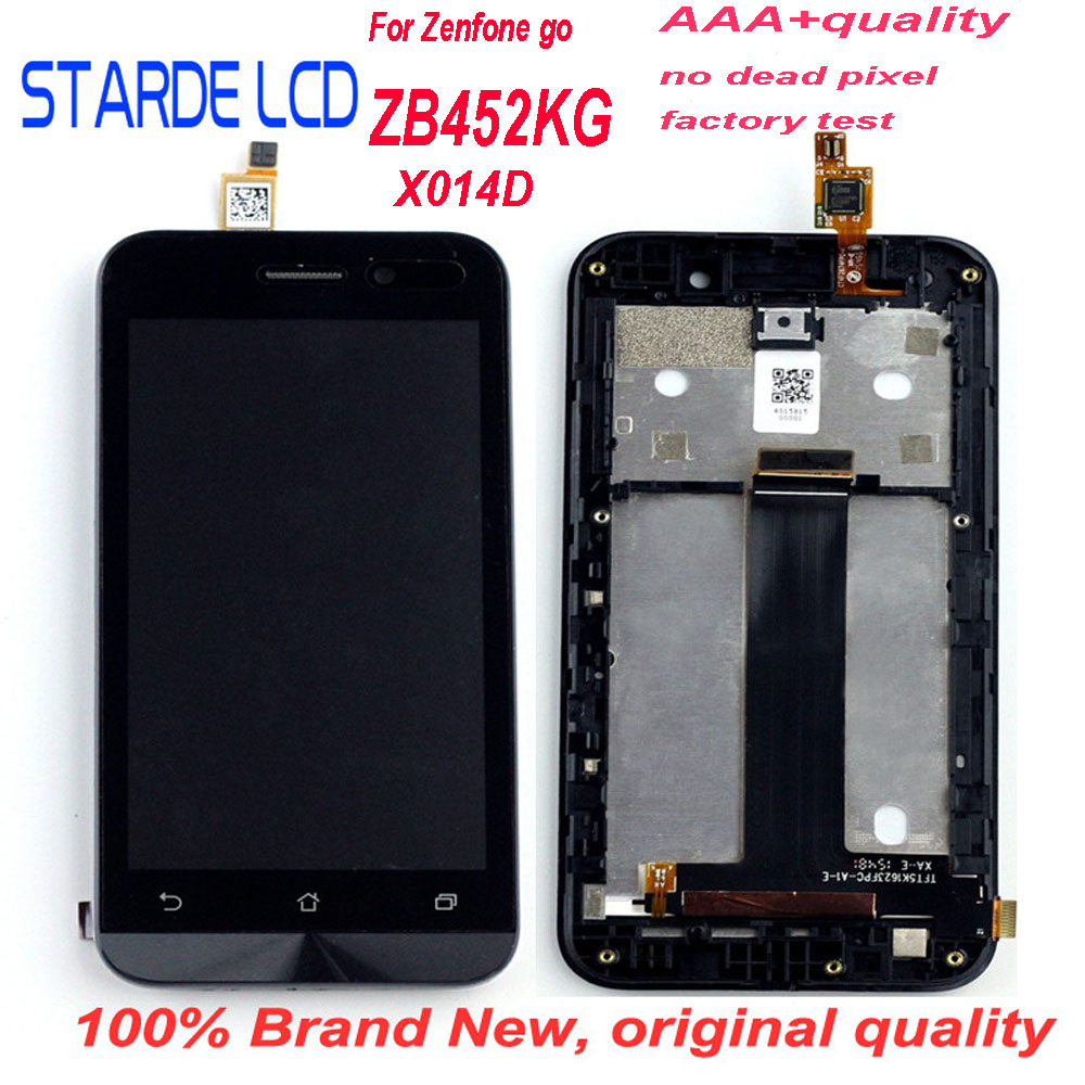 Starde Substituição 4.5 ''LCD para Asus ZenFone Ir ZB452KG X014D LCD Screen Display Toque Digitador Assembléia com Frame