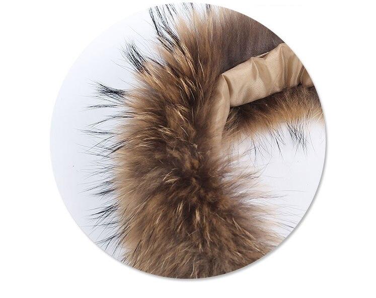natural raccoon fur hoody trim collar (7)