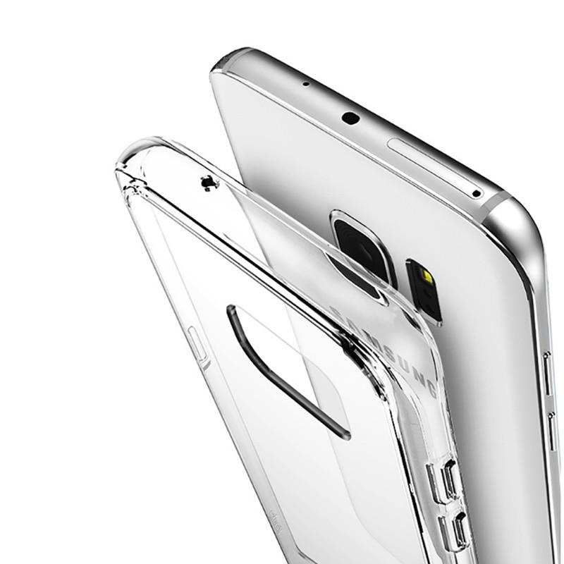 Transparent-Case Cover-Case Fundas Coque Clear S7-Edge Samsung S7 Silicone Ultra-Thin
