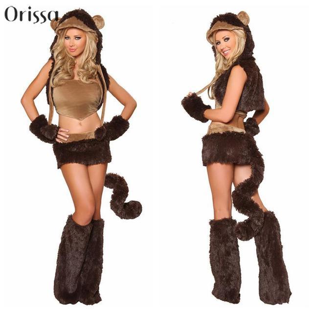 423192c78faf € 14.5  Mono travieso adultos traje de mujeres Sexy Animal de fiesta  disfraces Halloween Cosplay disfraces bonitos disfraces de Carnaval en  Disfraces ...