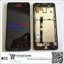 Tested LCD Screen display touch sreen Digitizer Glass Lens Sensor Bezel Frame For Asus Zenfone 5