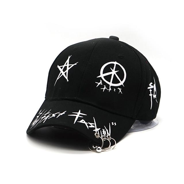 new Graffiti Snapback Baseball Caps Black and White Patchwork Men Women Hip Hop Cap Fashion Casual Hat Bone Garros