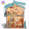 Hecho a mano Muebles de Casa de Muñecas Miniatura Diy Casas de Muñecas casa de Muñecas En Miniatura De Madera Juguetes Para Niños Adultos Regalo de Cumpleaños 3814