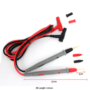 Image 4 - 1 זוג סיליקון חוט עט יוניברסל בדיקה הובלות פין עבור דיגיטלי מודד מחט טיפ רב מטר בודק בדיקה 20A 1000V חדש