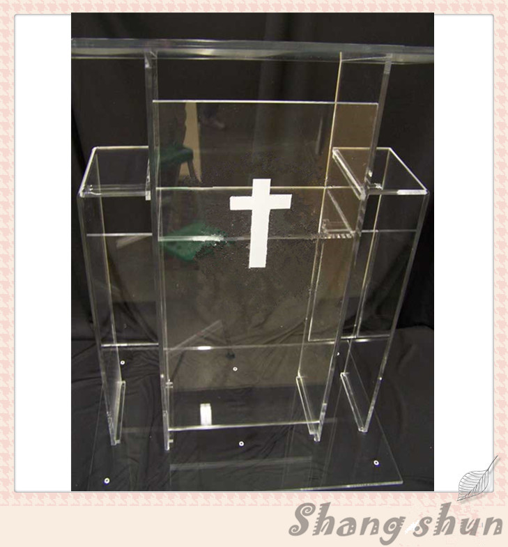 Clear Transparent Acrylic Lectern Clear Acrylic Church Podium Acrylic Pulpit Furniture Lectern Podium