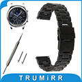 22mm de acero inoxidable reloj band para samsung gear s3 clásico/frontier de liberación rápida hebilla del cinturón de seguridad correa de pulsera de la muñeca