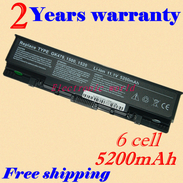JIGU New 4400mAh laptop battery  for Dell for Inspiron 1721 Vostro 1500 Vostro 1700 free shipping