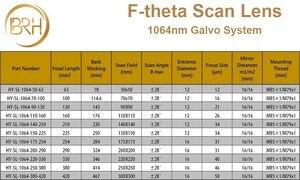 Image 5 - BRH F theta Lente Lente di Campo 1064nm di Scansione 50x50 300x300mm FL.63 420mm Filo M85X1 per Laser In Fibra marcatura di Parti di Macchine