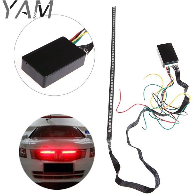 48 SMD 5050 LED RGB Scanner Flash Car Strobe Remote Knight Rider Light Strip New