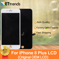 1 piece 100% Original OEM LCD Display For iPhone 8 Plus LCD Screen Touch Digitizer Assembly One by one Tested DHL Free Shipping