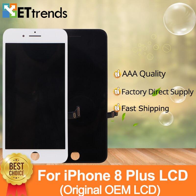2 pcs/lot 100% D'origine OEM LCD Affichage Pour iPhone 8 Plus LCD Écran Tactile Digitizer Assemblée Un par un Testé DHL Livraison Gratuite
