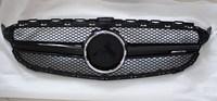 W205 все блеск серебра черный AMG логотип спереди Гриль решетка для Mercedes Benz C200 C220d C250 C260 C400 c180 c450, бесплатная доставка