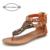 Das Mulheres novas Gladiador Romano Sandálias Flats Sapatos Sandálias Gladiador Das Mulheres de Couro Estilo Étnico Indiano Sexy Do Parafuso Prisioneiro Das Mulheres Sapatos Baixos