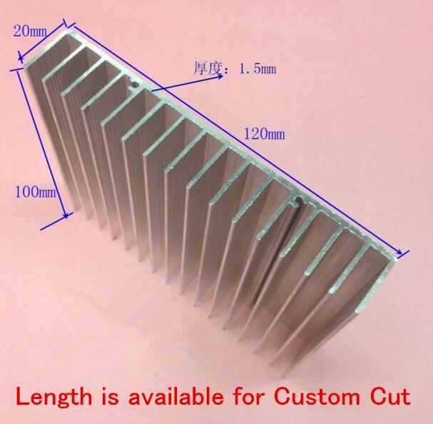 Free Ship100*120*20MM Cooling block Heatsink Length is available for Custom Cut Width 120*high 20*length 100mm aluminum radiator custom free 100