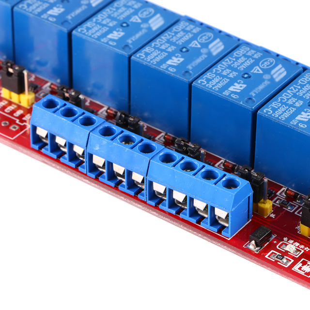 DC 12V 8-Channel Relay Delay Module High Low Level Dyal Ttigger Relay Module Board High Quality