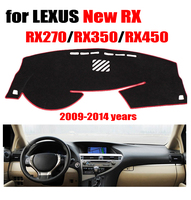 RKAC Car dashboard cover For LEXUS new RX270 RX350 RX450 2009 2013 Left hand drive dashmat pad dash covers auto accessories