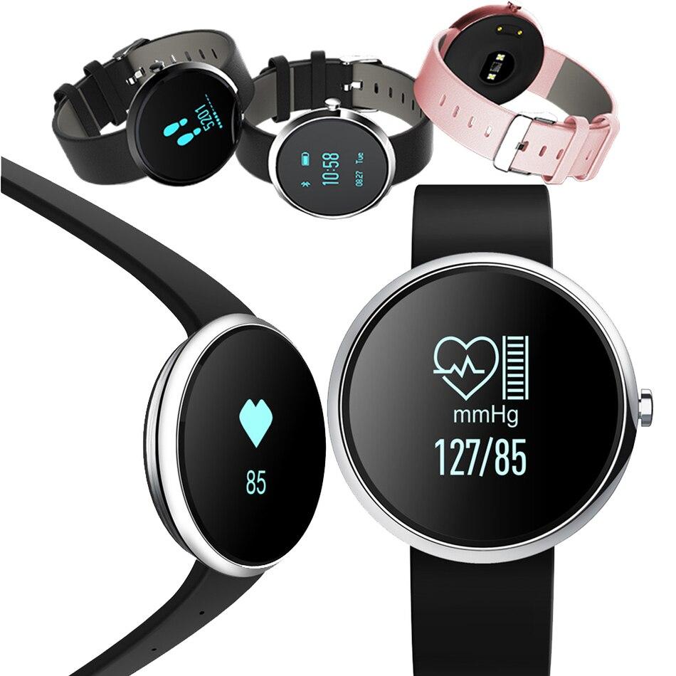 imágenes para H09 Banda de Frecuencia Cardíaca Bluetooth Inteligente Monitor de Presión Arterial de Fitness Pulsera Rastreador Pasómetro Reloj Pulsera Para iOS Android