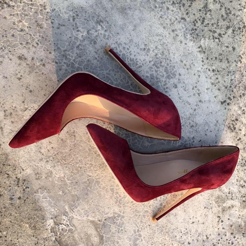 Pointu Pompes Cuir Peu on Mariage Femmes Chaussures As Hauts Ladise Talons Printemps Troupeau Slip Nouveau Partie En Profonde Pic Bout 2018 De Ol AL3cRS54jq