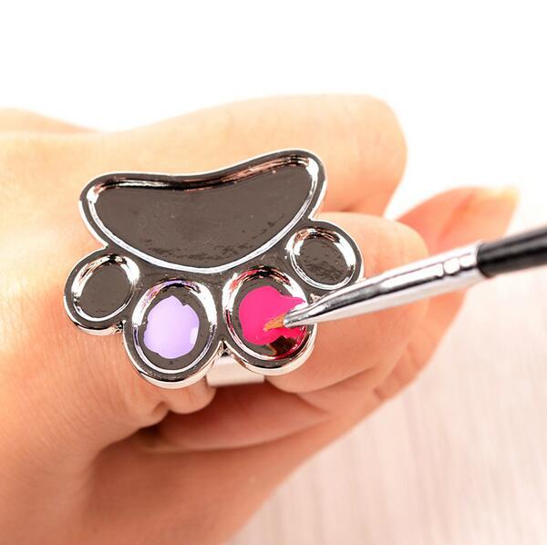Kuku seni BARU manicure gel kuku cetakan kuku mesin untuk cincin tangan percuma airbrush stensil palet seni kuku diy