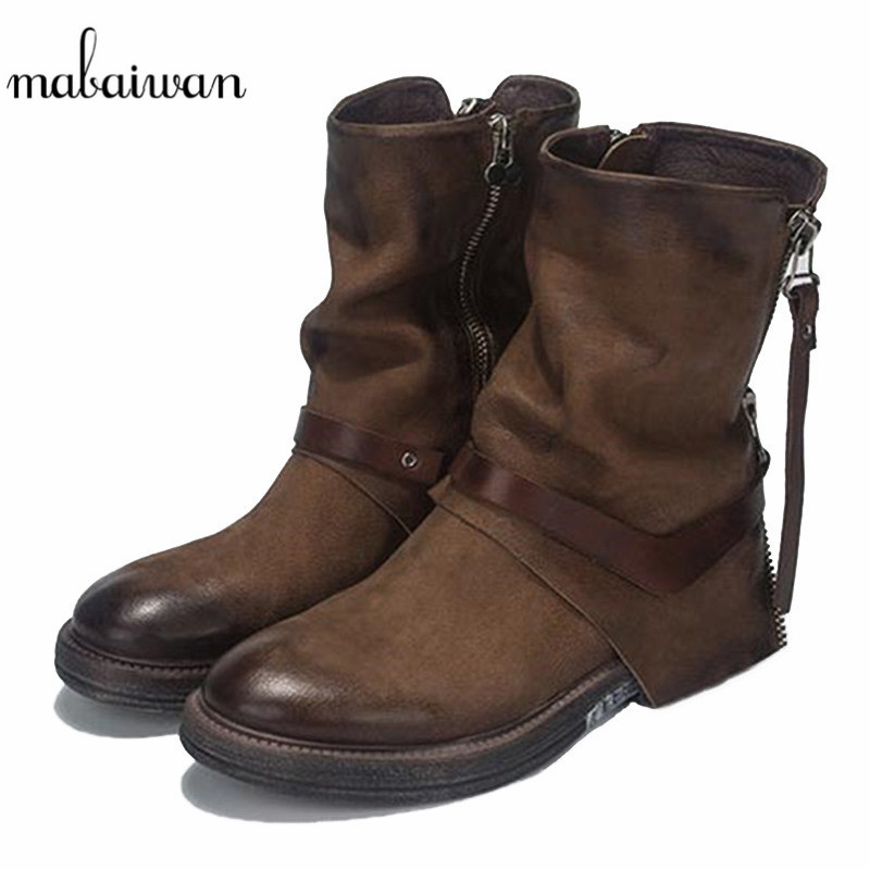 Kurze Herbst Short Frauen Plush Mabaiwan Reit Plush Winter Military Stiefeletten Schuhe Leder brown Schwarz In Aus Neue brown Wohnungen Leather Stiefel Echtem 2019 Black Schnee In black vqAwqxzEg