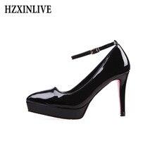 38cb10b5e7354 HZXINLIVE zapatos de tacón de lujo de Mujer Zapatos de plataforma rojo Sexy  zapatos de mujer tacones altos extremos zapatos de b.