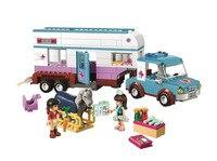 BELA Friends Series Horse Vet Trailer Building Blocks Classic For Girl Kids Model Toys Marvel Compatible