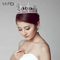 2017 Fashion Crystal Diadem For Women Wedding Dress Hair Accessories New Handmade Luxurious White Pearl Rhinestone