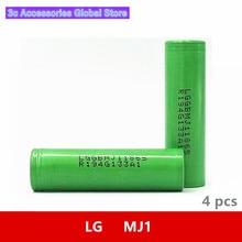 4 pcs/lot 3.7V 18650 3500mah 10A Original For LG INR18650MJ1 MJ1 Chem 3.6V IMR battery cell for Toy E cig Torch Flashlight ect