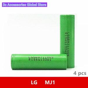 Image 1 - 4 pcs/lot 3.7V 18650 3500mah 10A Original For LG INR18650MJ1 MJ1 Chem 3.6V IMR battery cell for Toy E cig Torch Flashlight ect