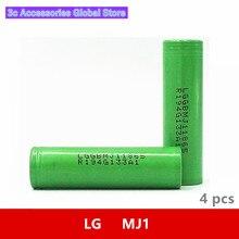 4 pz/lotto 3.7V 18650 3500mah 10A Originale Per LG INR18650MJ1 MJ1 Chem 3.6V IMR cellula di batteria per giocattolo E cig Torcia Elettrica Della Torcia ect