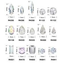 hot deal buy 12pcs navette,cube,rivoli,drop,rectangle,square 3d nail art decoration crystal fancy diamond jewelry diy beauty rhinestones