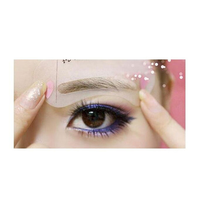 2019 Hot eyeliner 3pcs delineador ojos Exquisite Eyebrow ruler Grooming Shaping Card Kit Template eye brow Tooleye brow stencil 1