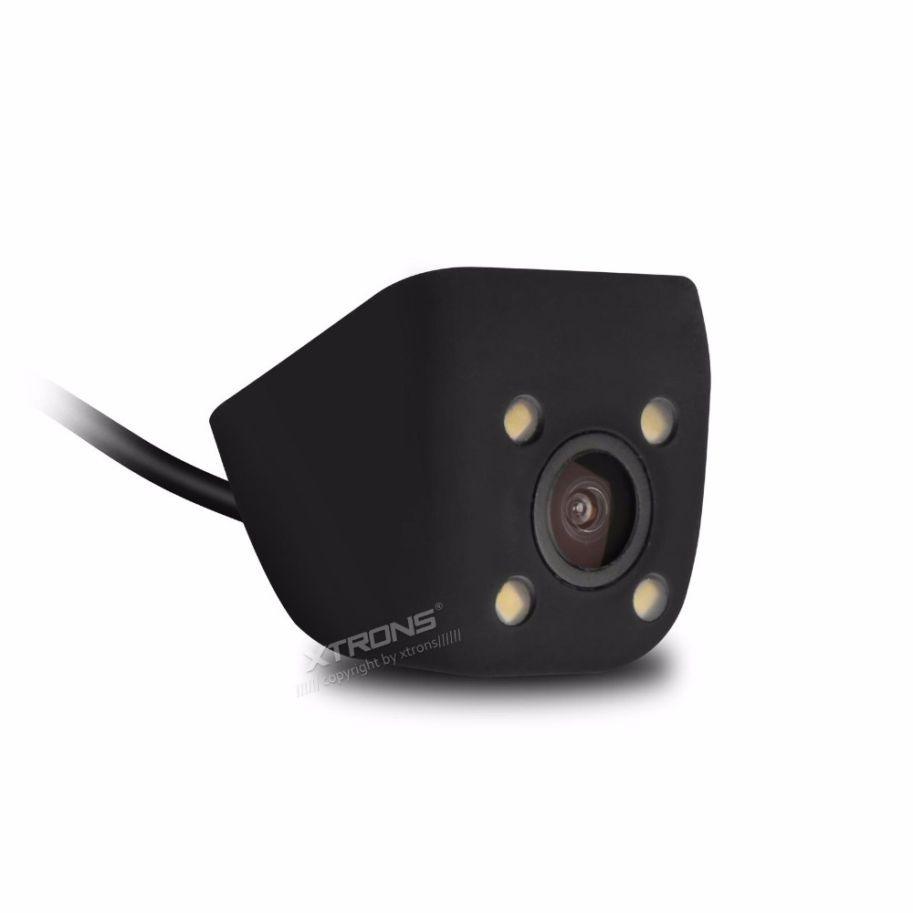 XTRONS CAM009 Автомобильная камера заднего вида Водонепроницаемая Регулируемая угловая 4 глазная мощная светодиодная лампа