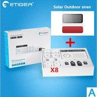 DIY KIT Etiger S4 PSTN GSM сигнализация Системы с функцией RFID sms оповещение и App push тревожные