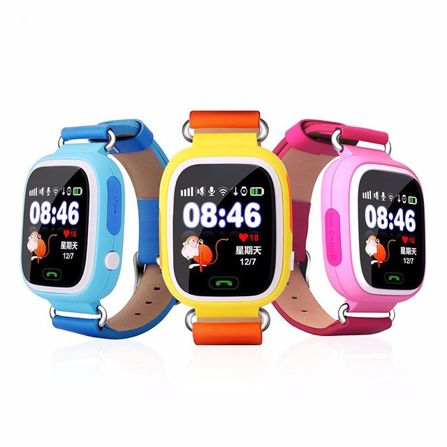 Smart watch bebê relógios q90 com gps wifi tela sensível ao toque de chamada sos localização devicetracker para criança seguro anti-perdido do monitor