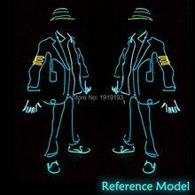 10pcs High Quality Stage Lamp EL Tube Flexible Jazz Men Dance Costume Led Bulbs
