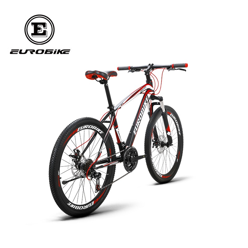 "EUROBIKE Mountain Bike 27.5/""  Bicycle 21 Speed Disc Brakes Front Suspension MTB"