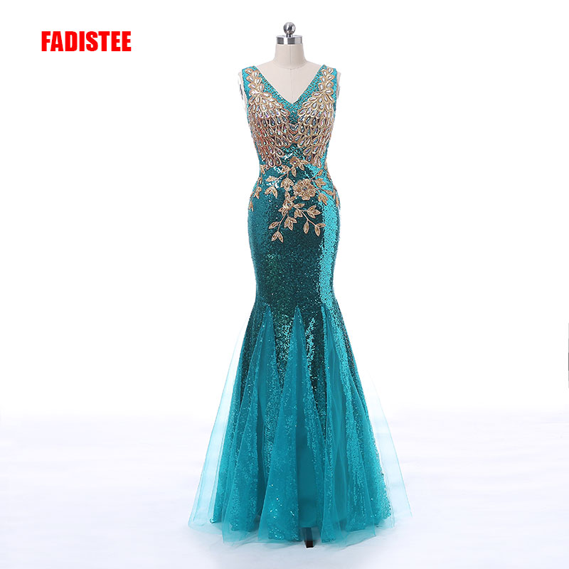 New arrival gorgeous prom dresses sequins dresses formal party dresses vestidos de festa dress style see