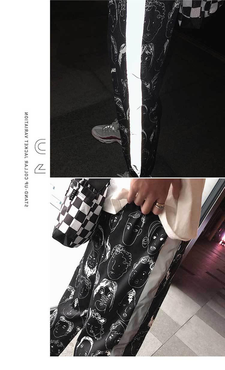HOUZHOU Reflective Harem Gothic Pants Women Hip Hop Streetwear Ankle Length Trousers Plus Size Mid Loose Pencil Pantalon Female 2