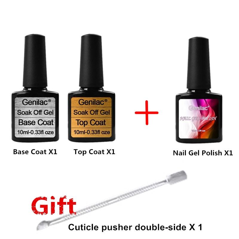 Buy 3 get 1 gift Top Coat & Base Coat Nail Gel Polish Soak Off UV 10ml Gel Polish Long-lasting Nail Gel Lacquer жидкость domix green professional nail gel polish remuver